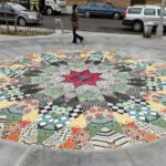 CERAMIC AND MARBLE FLOOR,  NYC, ARTIST HELLEN HARVEY, TOGETHER WITH MIOTTO MOSAIC ART STUDIOS INC.