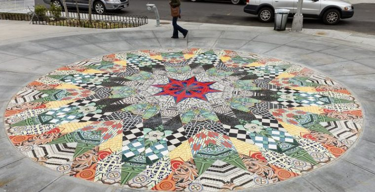 NYC, HARLEM FLOOR, ARTIST ELLEN HARVEY, WITH MIOTTO MOSAIC ART STUDIOS INC.