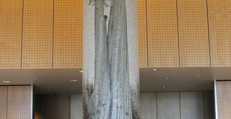SEATTLE INT. AIRPORT, COLUMNS, ARTIST PETER DE LORY, WITH MIOTTO MOSAICS ART STUDIO INC.