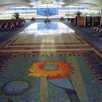 ORLANDO INT. AIRPORT, FL, GLASS AND CERAMIC FLOORS, WITH MIOTTO MOSAIC ART STUDIOS INC.