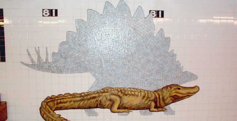 MTA, NYC SUBWAY, MUSEUM NATURAL HISTORY, WITH MIOTTO MOSAIC ART STUDIOS INC.