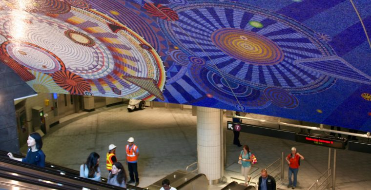 MTA, NYC SUBWAY,  ARTIST XENOBIA BAILEY, WITH MIOTTO MOSAIC ART STUDIOS INC.