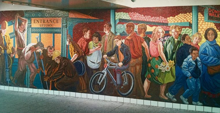MTA, NYC SUBWAY, ARTIST JACK BEAL, WITH MIOTTO MOSAIC ART STUDIOS INC.