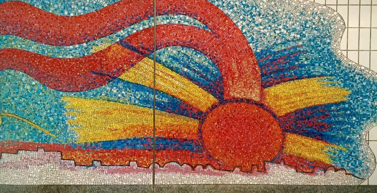 MTA, NYC SUBWAY, ARTIST ELISABETH MURRAY, WITH MIOTTO MOSAIC ART STUDIOS INC.