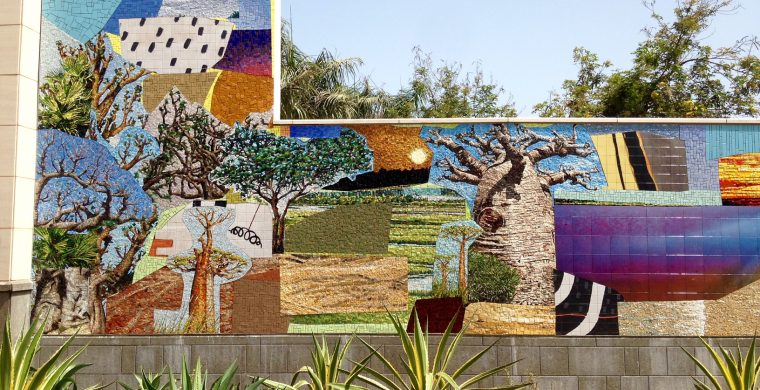 US EMBASSY, DAKAR, SENEGAL, ARTIST MICKALENE THOMAS, WITH MIOTTO MOSAIC ART STUDIOS INC.