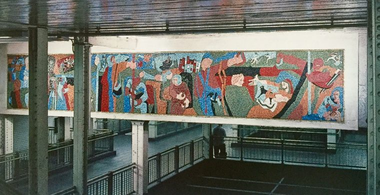 MTA, NYC SUBWAY, ARTIST JACOB LAWRENCE, WITH MIOTTO MOSAIC ART STUDIOS INC.
