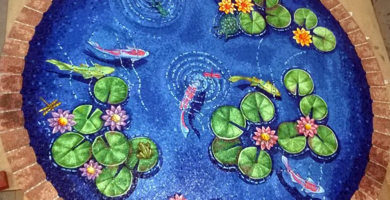 POND WITH FISHES AND WATERLILIES, WITH CONRAD PICKEL STUDIO